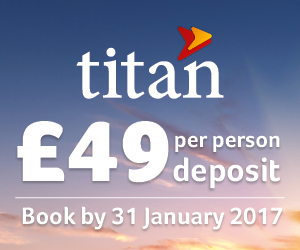 Titan Travel: Low deposits from £49 per person