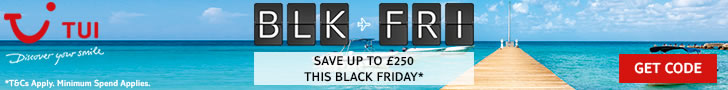 £250 off holidays in TUI Black Friday sale