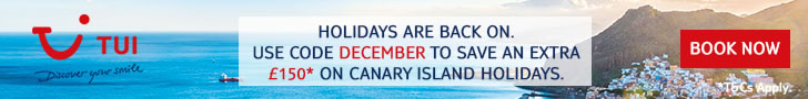 £150 off holidays to the Canaries in December 2020
