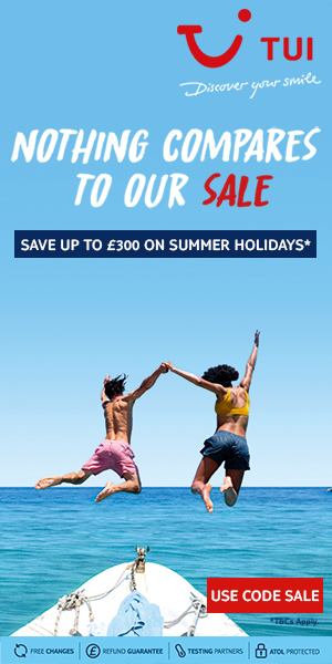 Save up to £300 on summer holidays with TUI