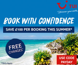 Save £100 on summer 2021 holidays with TUI