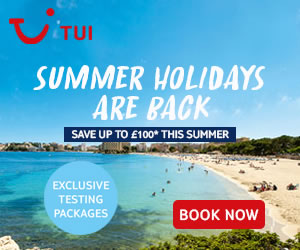 Save up to £100 on summer 2021 holidays + exclusive testing packages