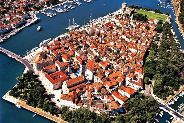 Aerial view of the historic island of Trogir © Damir Fabijanic - Croatian Tourist Board