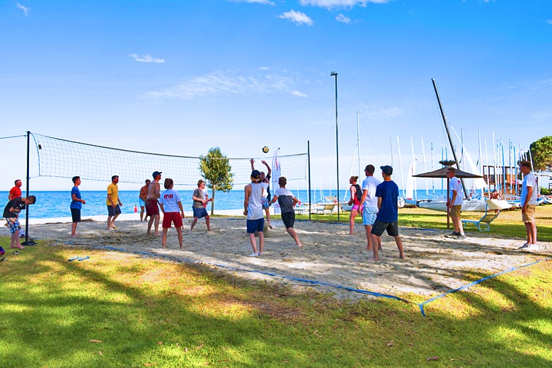 Don't miss out on the afternoon beach volleyball - photo courtesy of Mark Warner