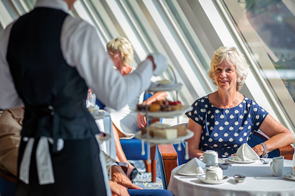 Afternoon tea on board Braemar - photo courtesy of Fred Olsen Cruise Lines