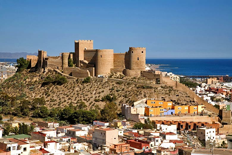 The Alcazaba in Almería, largest Muslim fortress in Spain © Jerónimo Alba - Alamy Stock Photo