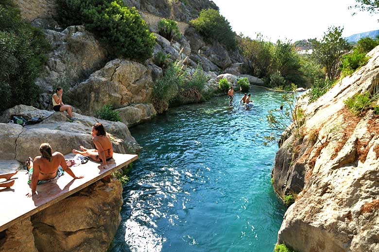 Algar Waterfalls - a scenic spot for a cooling dip © imageBROKER - Alamy Stock Photo