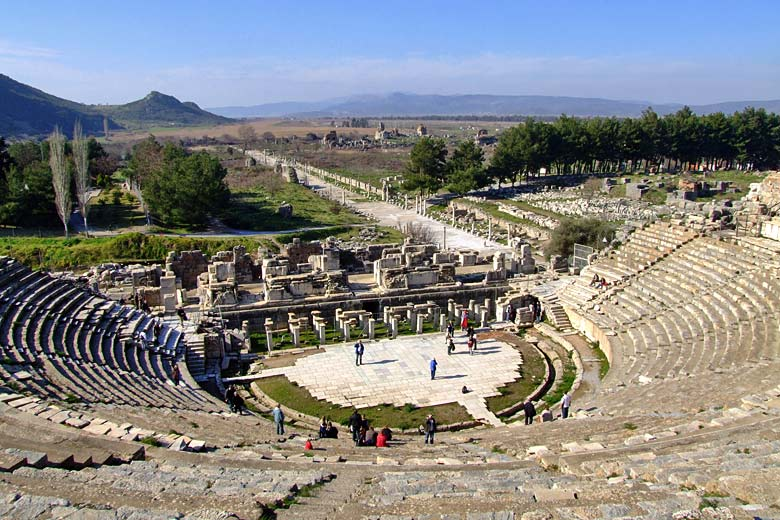 The 25,000 seat amphitheatre at Ephesus near Izmir, Turkey © Omer Genc - Fotolia.com