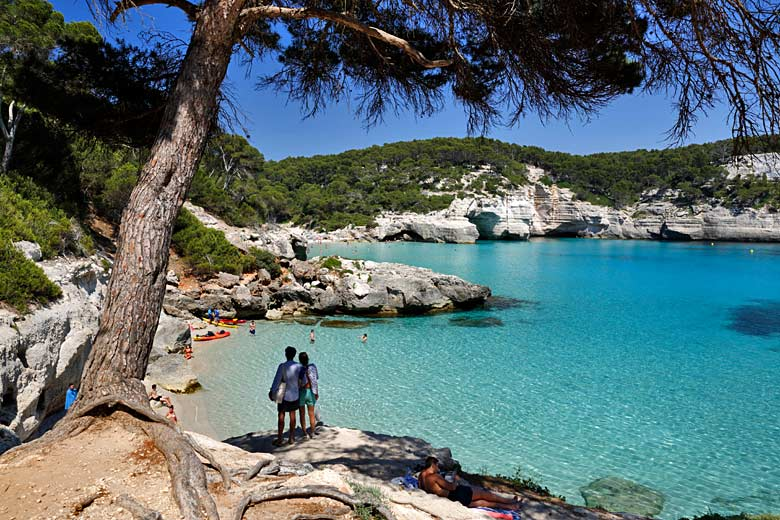 Checking out Cala Mitjana, Menorca, Balearic Islands © Stuart Black - Alamy Stock Photo