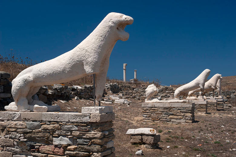 Avenue of the Lions, Delos, Greece © Georgios Giannopoulos - Wikimedia Commons