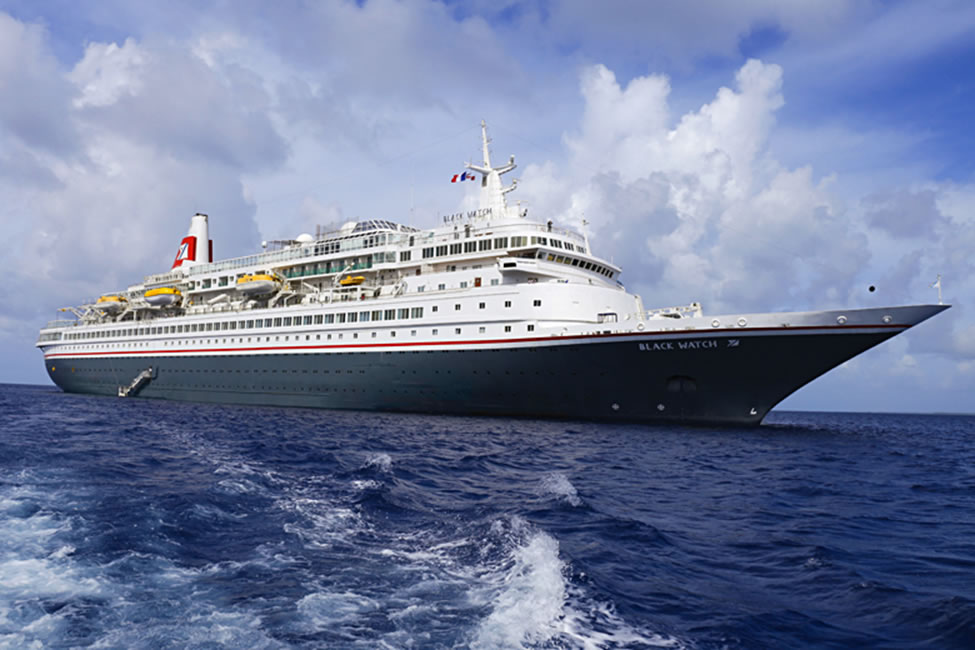 Fred Olsen's Black Watch at sea -  photo courtesy of Fred Olsen Cruise Lines