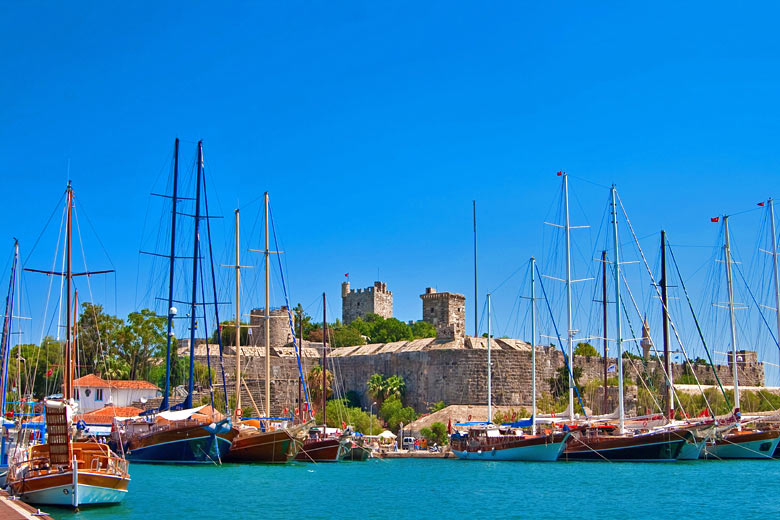 Bodrum Castle from inside the port - photo courtesy of Turkish Culture and Tourism Office