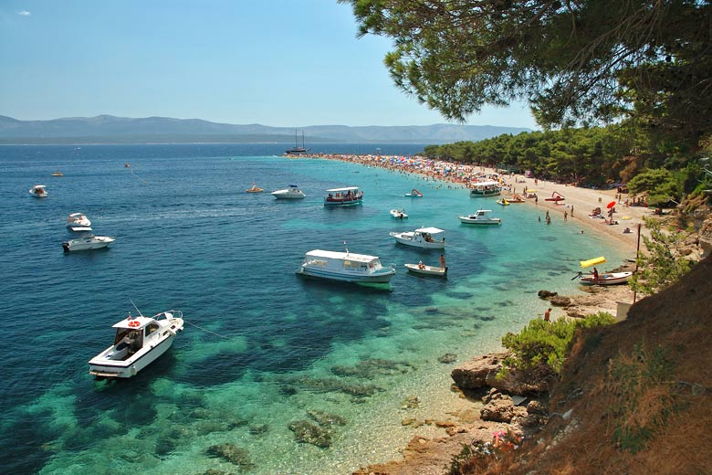 Beach on Brac Island, Croatia