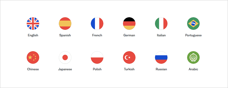 Choose from 12 languages to learn online with Busuu membership
