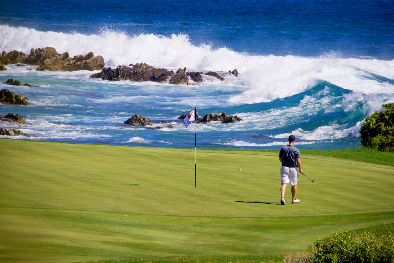 Playing the Cabo del Sol Ocean course, Cabo San Lucas - photo courtesy of Cabo del Sol