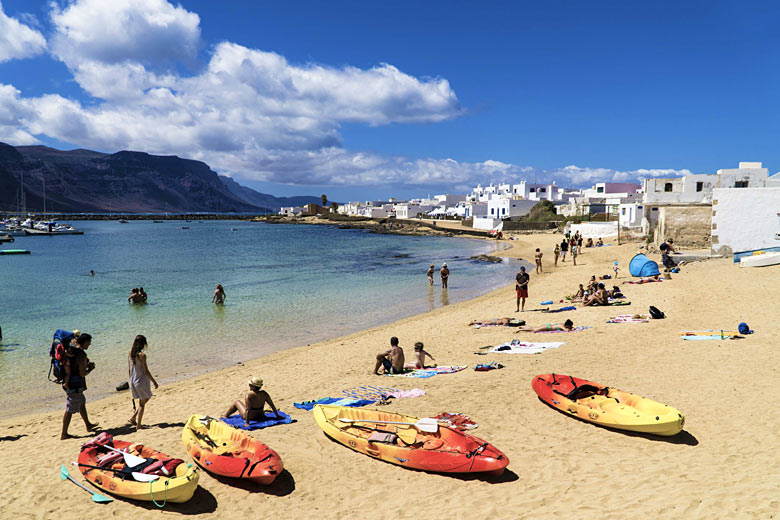 The little beach in the harbour of Caleta del Sebo, La Graciosa - photo courtesy of Turismo Lanzarote