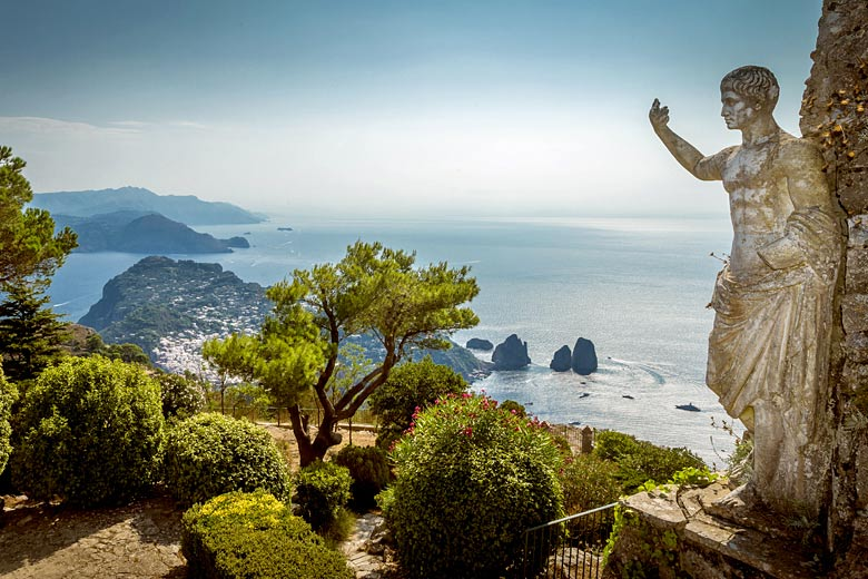 Looking down on Capri from the summit of Mt Solaro © Mikolajn - Adobe Stock Image