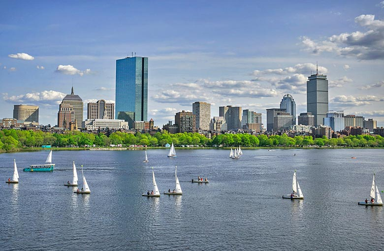 The Charles River Basin, Boston - photo courtesy of Massachusetts Office of Travel & Tourism