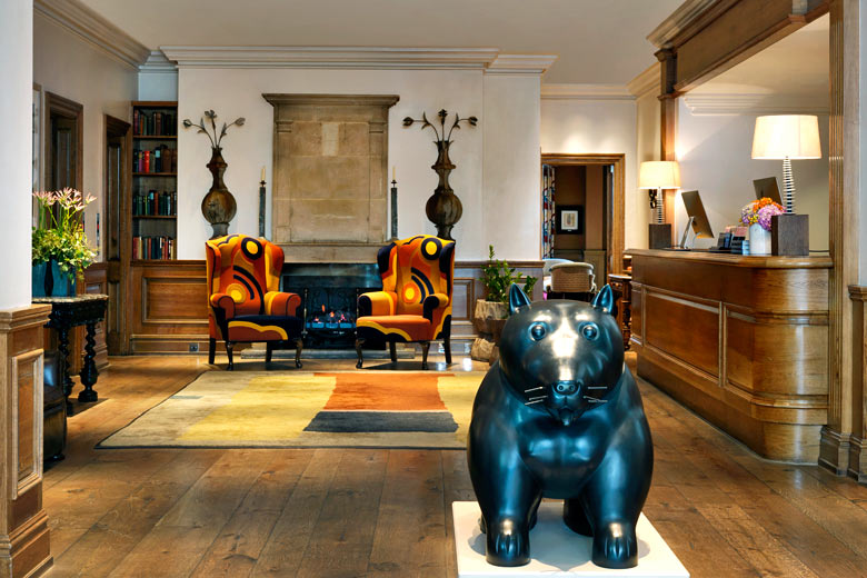 Reception at Charlotte Street Hotel, London - photo courtesy of Design Hotels