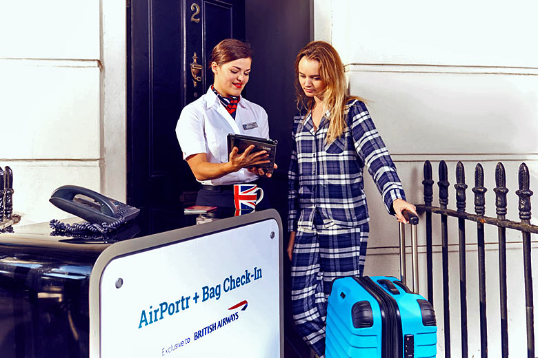 Check in and bag drop at home with British Airways - photo courtesy of www.airportr.com