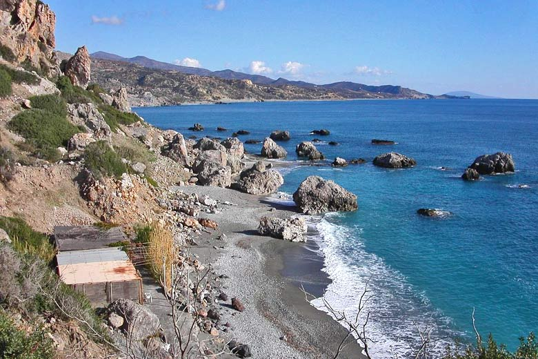 The coastline near Agia Fotini, Crete, Greece © Web Tablet - Panoramio