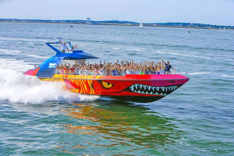 The Codzilla at speed in Boston harbour - photo courtesy of Boston Harbor Cruises