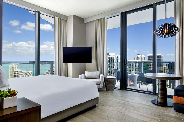 Corner King room with spectacular views, EAST Miami - photo courtesy of Swire Hotels