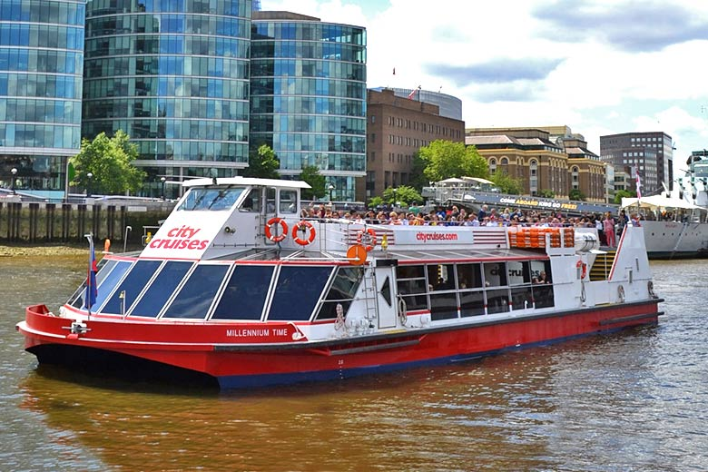 Cruise on the River Thames - photo courtesy of City Cruises plc