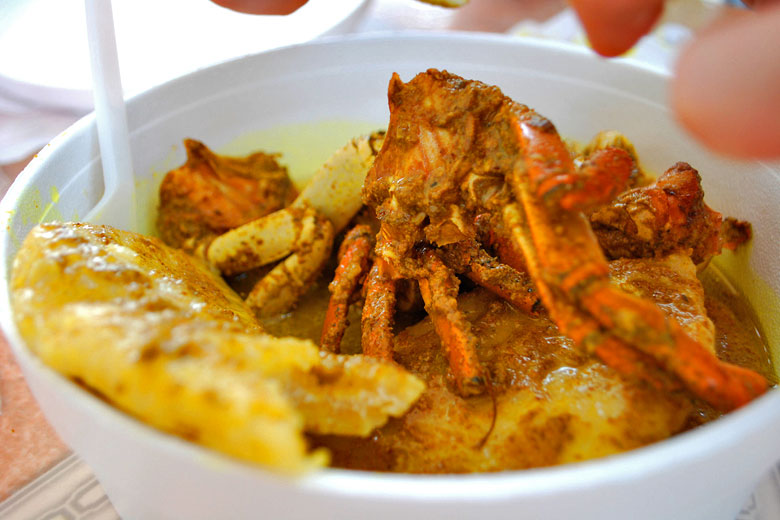 Curry crab and dumplings, Tobago © Kate Nevens - Flickr Creative Commons