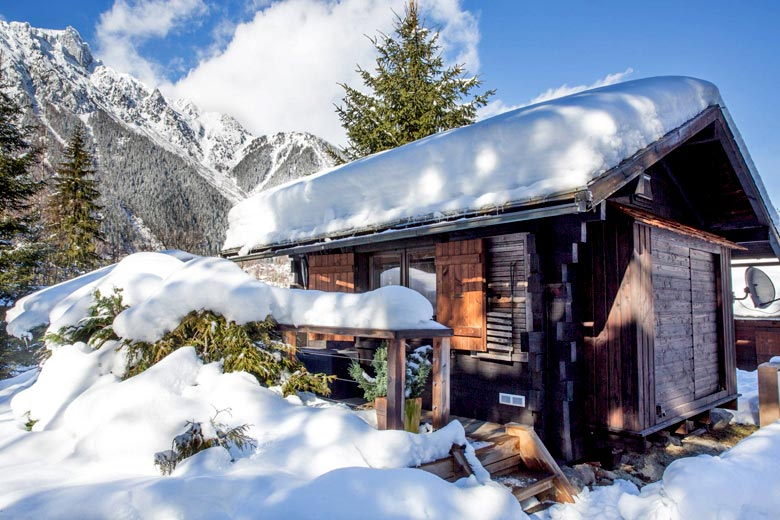 Get cosy in this cabin near Chamonix, France - photo courtesy of Airbnb