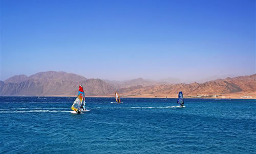 Dahab Windsurfing, Red Sea, Egypt courtesy Egyptian Tourist Authority