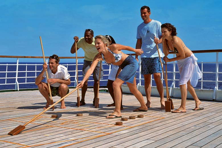 Deck shuffleboard on the Oriana cruising in the Caribbean - photo courtesy of P&O Cruises
