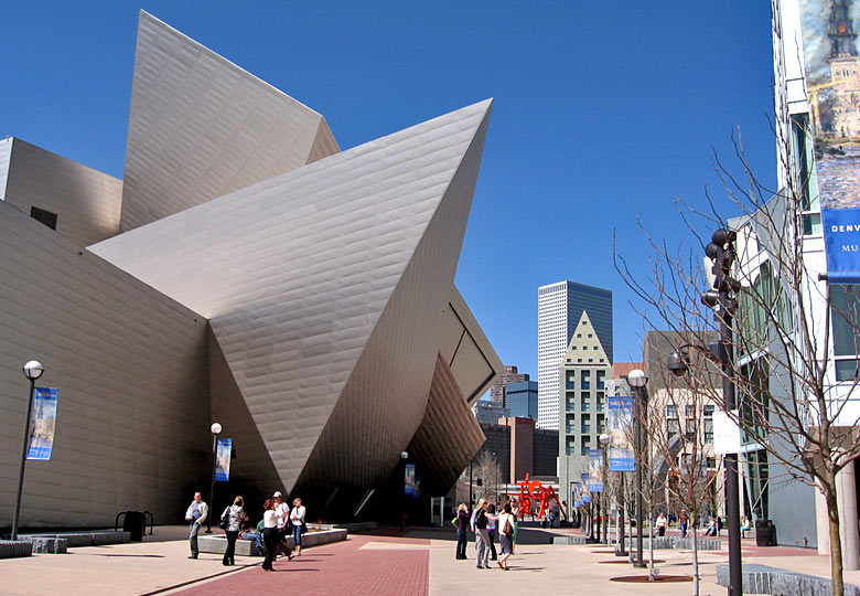 The Denver Art Museum right in the centre of the city © VISIT DENVER