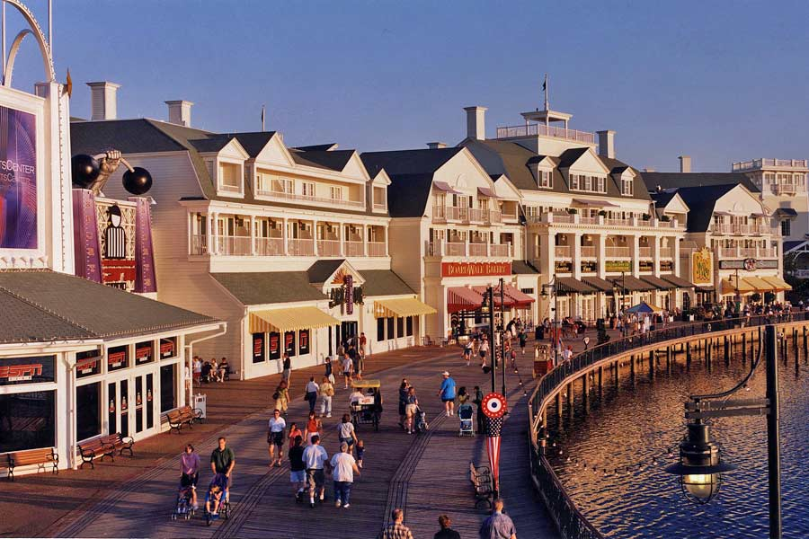 Disney's BoardWalk entertainment area - photo courtesy of Walt Disney World
