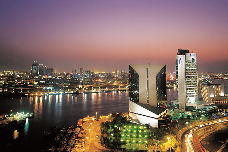 Dubai Creek at night - courtesy of Dubai Tourism