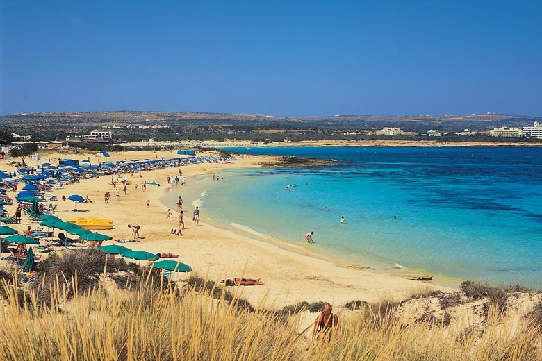 Early summer on the beach in Ayia Napa, Cyprus - photo courtesy of Visit Cyprus
