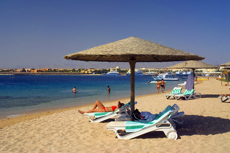 Beach at Makadi Bay, Egypt - photo courtesy of Egyptian Tourist Authority