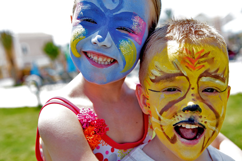 Face painting at First Choice Holiday Villages © TUI Travel PLC