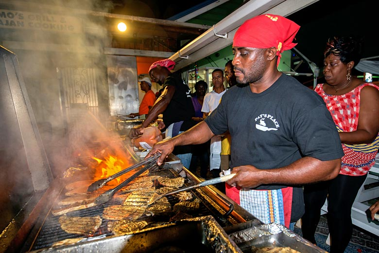 Fish Fry Night in Oistins, Barbados © Guy Harrop - Alamy Stock Photo