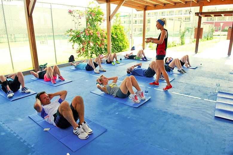 Fitness class, all part of the day's activity at Mark Warner - photo courtesy of Mark Warner