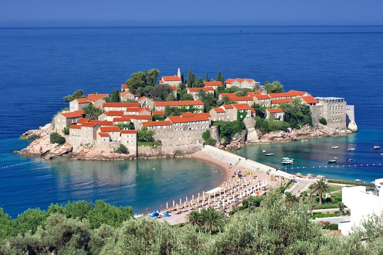 The old fortress town of Sveti Stefan, Montenegro © Ollirg - Fotolia.com