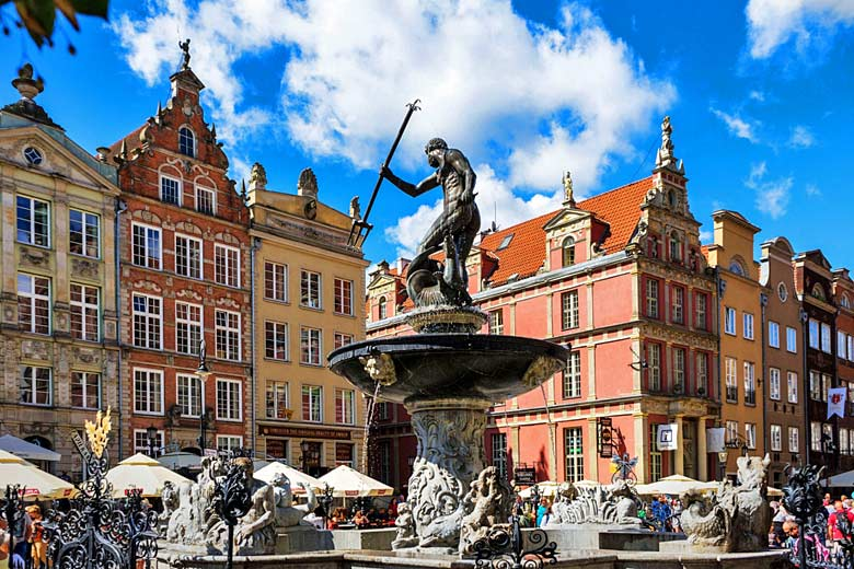 The early 17th century Neptune's Fountain in Gdańsk - photo courtesy of fshoq.com