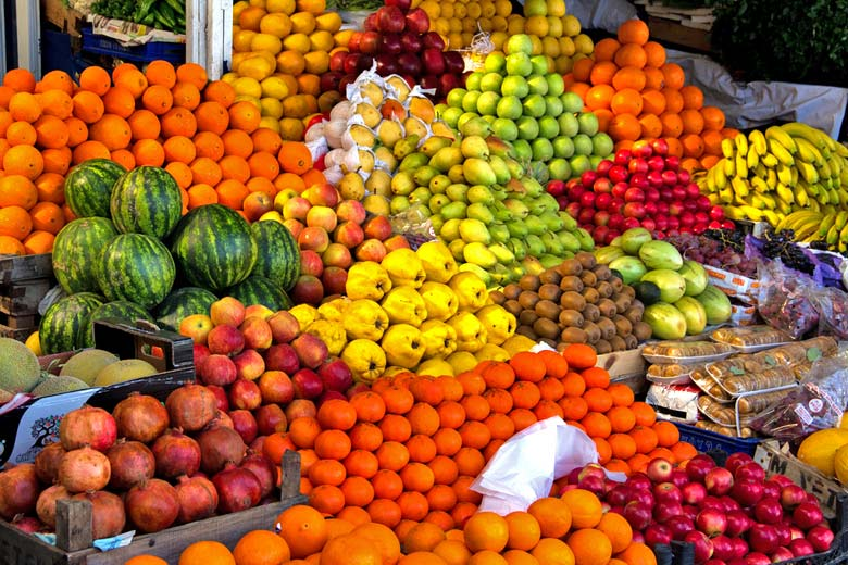 Fruit on display in Bodrum market © Alex Berger - Flickr Creative Commons