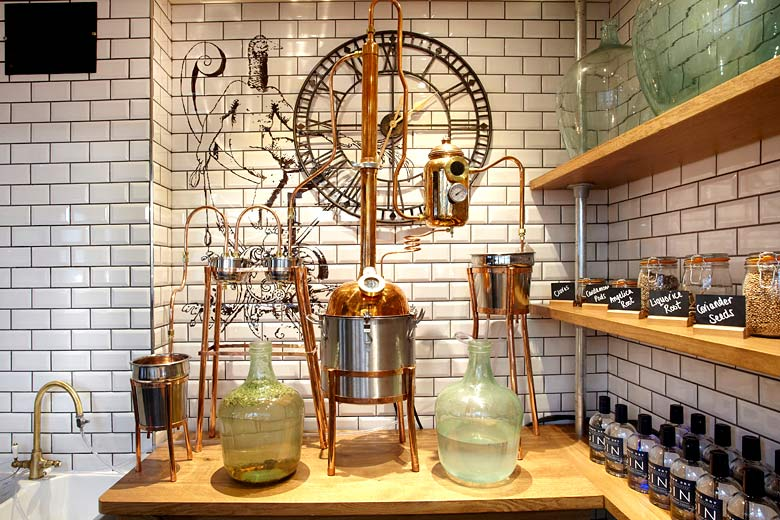 Gin distillery at Nicholas Culpeper Pub, Gatwick Airport - photo courtesy of Gatwick Airport