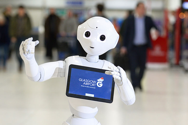 GLAdys, Glasgow Airport's robotic ambassador - photo courtesy of Glasgow Airport