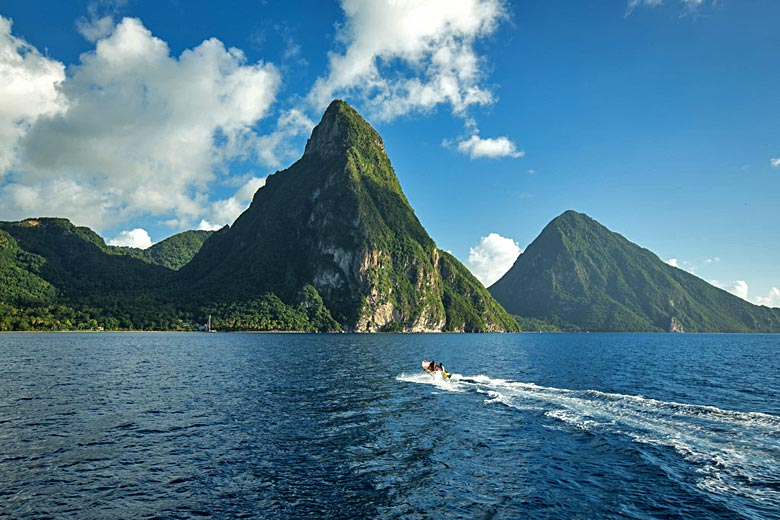 Heading for Petit Piton which rises almost vertically to 2,400 ft © dChris - Flickr Creative Commons