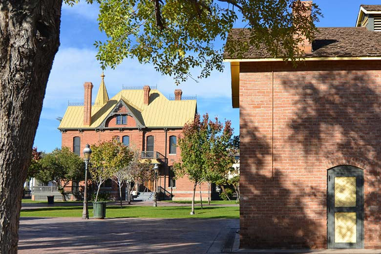 Heritage Square looking towards Rosson House, Phoenix - photo courtesy of Heritage Square Foundation