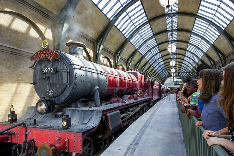 Step on to Platform 9 ¾ for a ride on the Hogwarts Express - photo courtesy of visitflorida.com