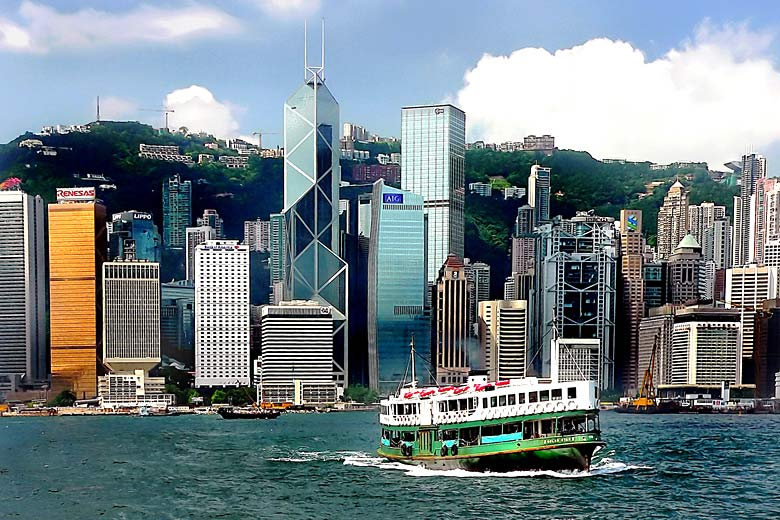 Hong Kong's iconic Star Ferry crossing the harbour - photo courtesy of Bernard Spragg