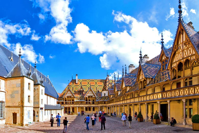 The impressive 15th-century architecture of the Hospices de Beaune © Aterrom - Adobe Stock Image